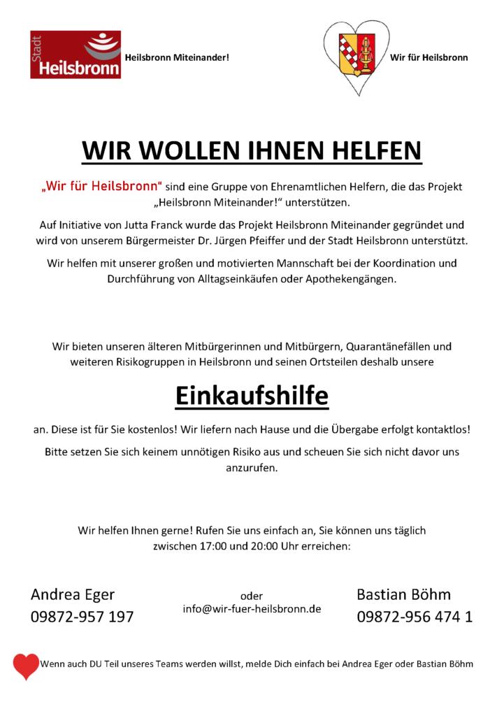 Wir für Heilsbronn Plakat